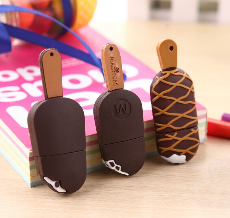 100% real capacity cartoon ice cream usb flash drive pendrive 4GB 8GB 16GB 32GBu usb disk pen drive memory disk cute silicone(China (Mainland))