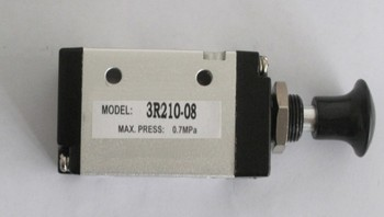 2 positions 3-way 3R Series manual pull valve ,3R210-08 G1/4 Hand Control Valve,Manual ,Aluminum alloy, Made In China