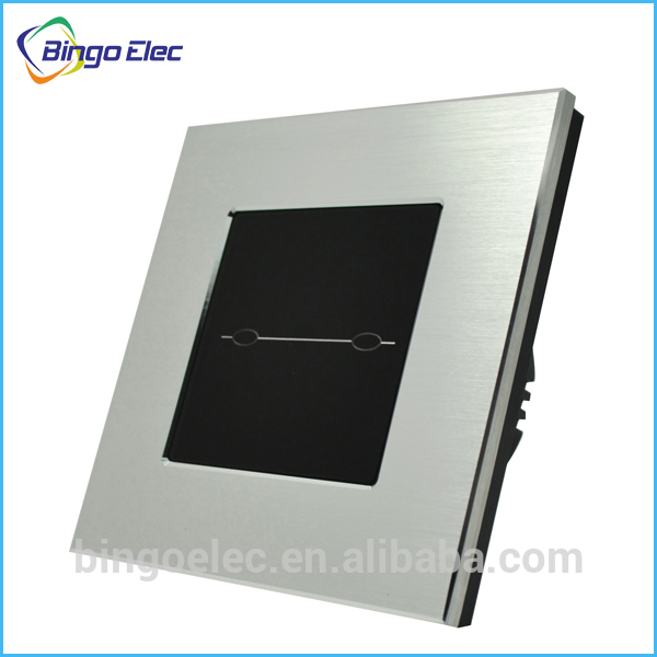 2gang 1way silver aluminum and glass panel light switch touch panel,touch sensor wall switch EU/UK standard AC110-250V<br><br>Aliexpress
