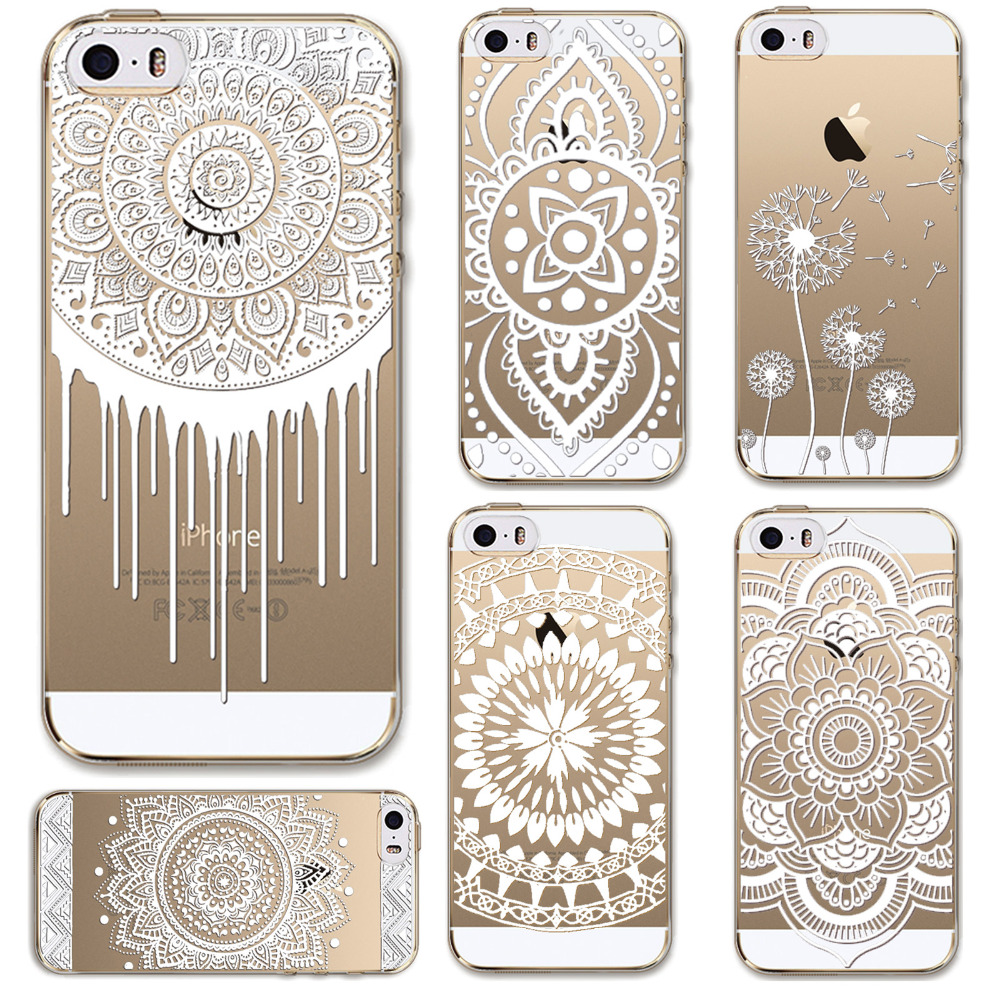 Phone cases for apple iphone 5 5s case transparent crystal for Case design