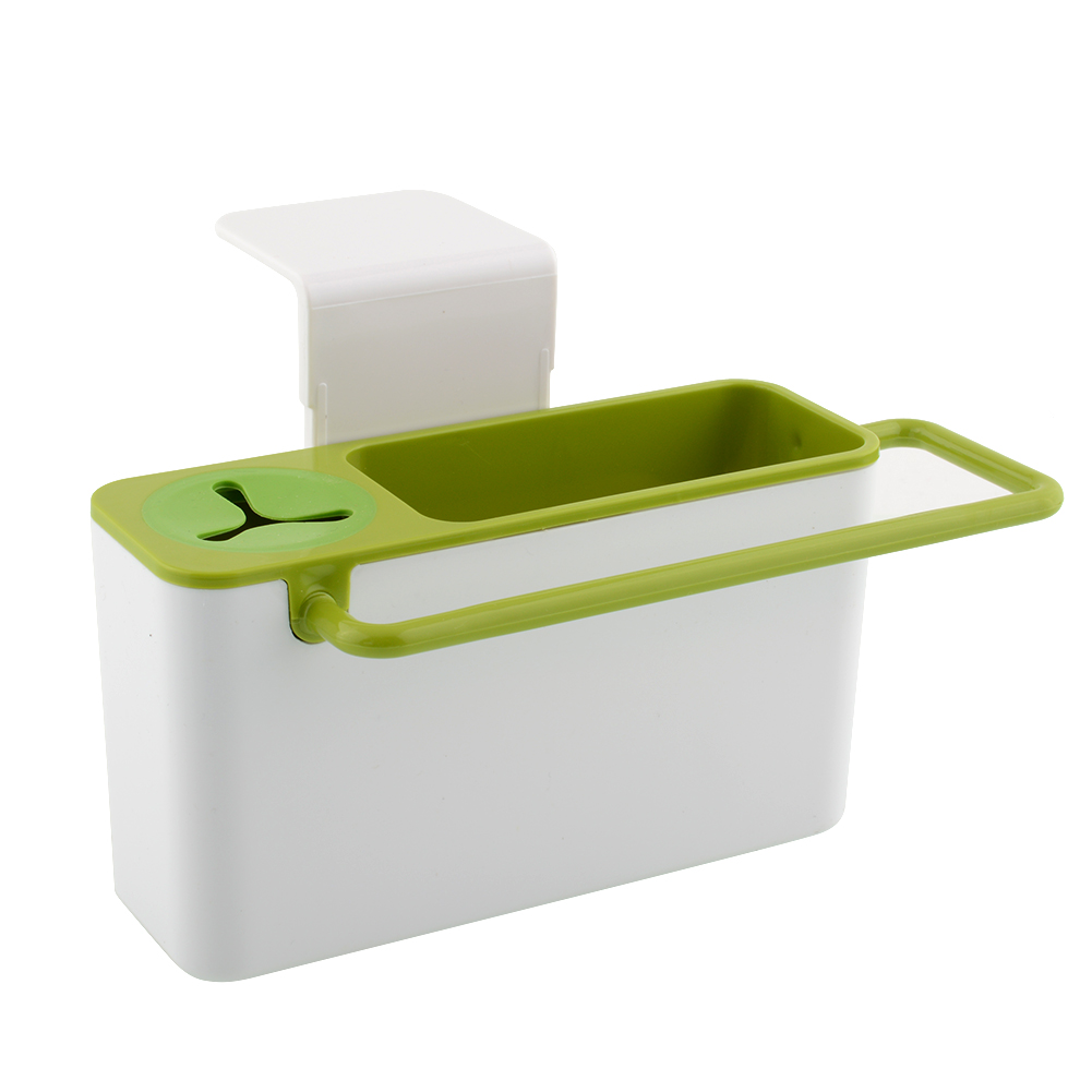 Hot New Useful Kitchen Sink Brush Cloth Rack Tools Suction Cup Storage Box Holder Container(China (Mainland))