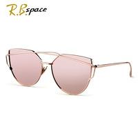 RBspace Cat eyes polarizer women's sunglasses for women summer style vintage sun glasses woman oculos de sol feminino nightclub