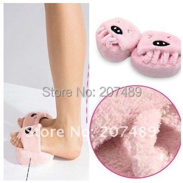 Slimming Weight Loss pink pig Slippers Non-Slip Lose  Health Care  Shoes  Dieting Legs shoes whcn+