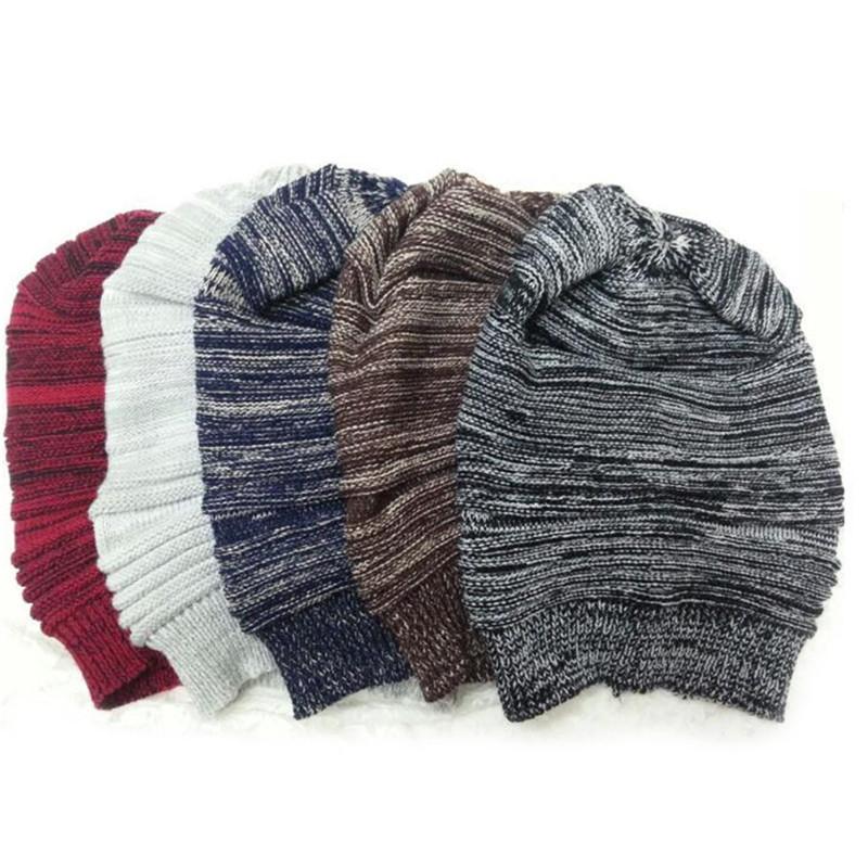 Fashion Beanie Hat Cap Women Men Winter baggy Casual Female Slouchy Ruffle Ski Bonnet Skullies Hats Knit Warm Women Cap Gorros