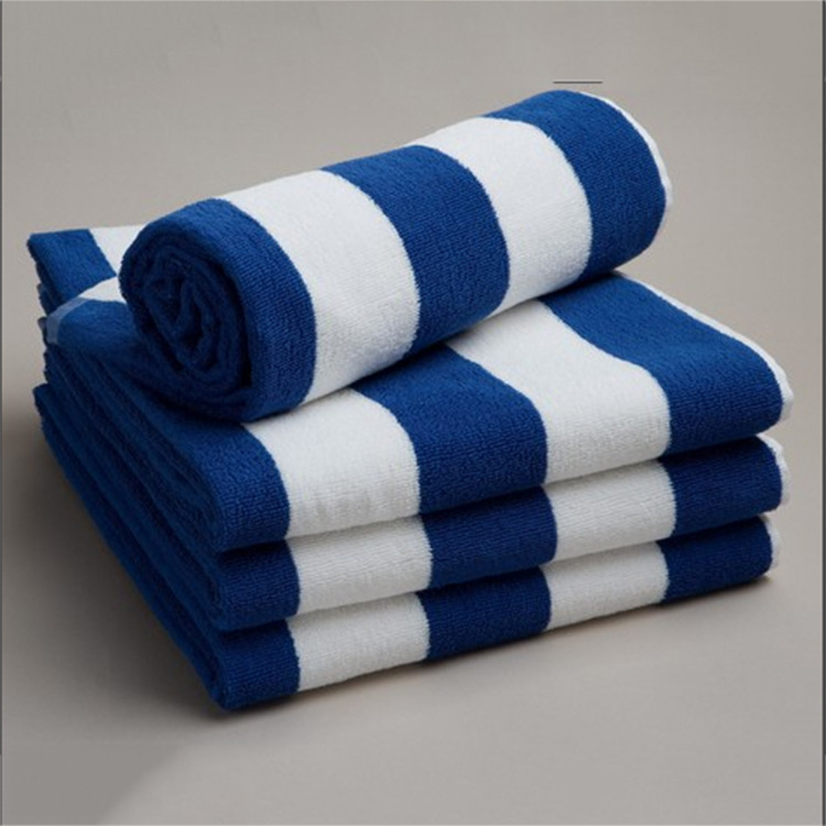 HOT!Cotton thick absorbent adult gift roll bathtowels blue and white striped beach towel plus size home bath towel bathroom use(China (Mainland))