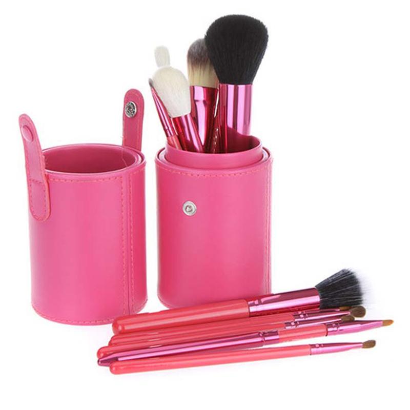 Hot Selling Cosmetic 12Pcs Makeup Brush Kit Make up Tools Set Professional barrel bag Makeup Brushes for woman foundation makeup(China (Mainland))
