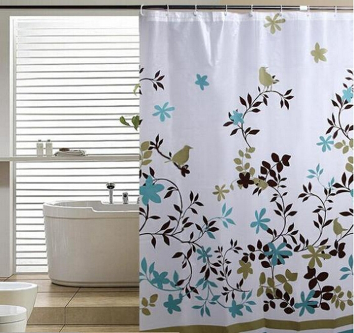 Cortinas De Baño Easy:Bathroom Floral Shower Curtain
