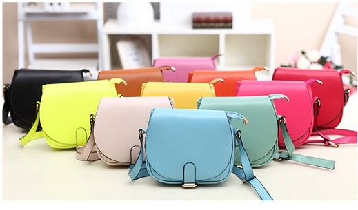 New Year candy Color Women Leather Handbags Korea Style Cute Women Messenger Bags Casual Lovely Shoulder Bags(China (Mainland))