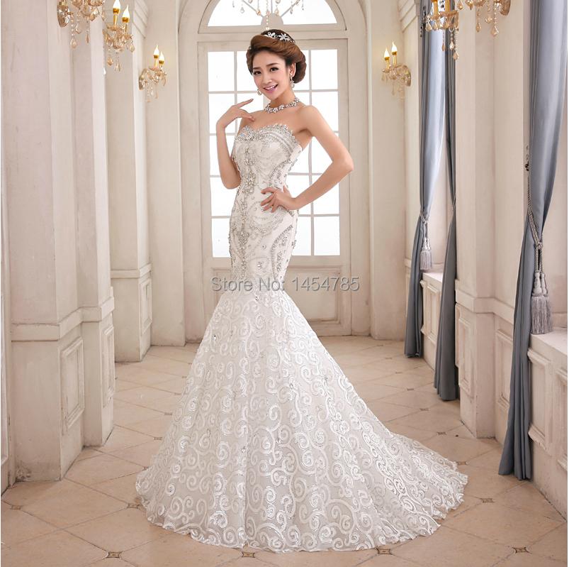 Free shipping 2014 new fashion high end wedding dress for High end wedding dress