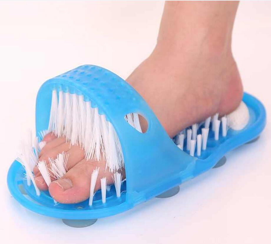 Hallux Valgus Brush Feet Bath Shower Pumice Stone Wash Foot Care Scrubber Massager Health Slipper Bristles Bending Exfoliates cheap