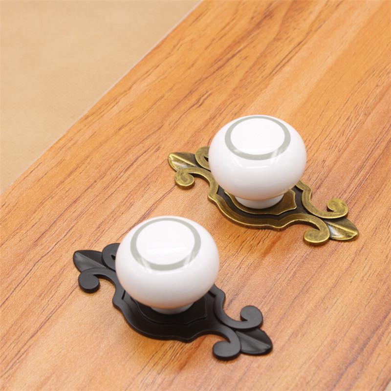 Modern White Ceramic Furniture Knobs Luxury Wardrobe Cabinet Ambry Door Pull Handle Drawer Pulls(China (Mainland))