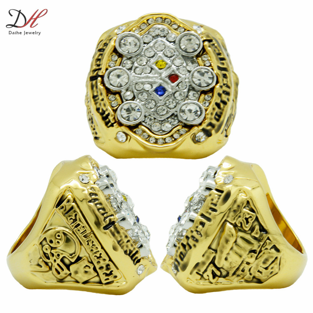 CR 20633 2008 Super Bowl Pittsburgh Steelers Champions 10K Gold Ring Replica Championship Ring