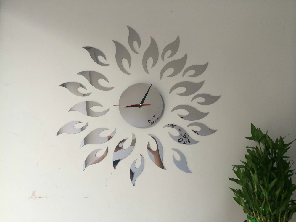 22pcs Set 3d Best Sun Wall Art Clock Safe Home Decor Wall