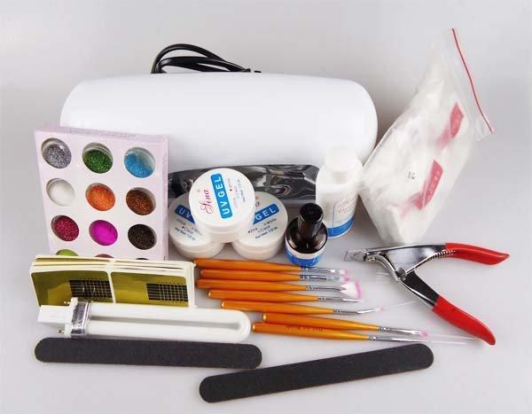 Set For Nail Gel Kit Professional With UV Lamp Unhas Set DE Unha Em Nails Manicure Gel-Nail-Starter-Kit Lampe Tools ferramentas