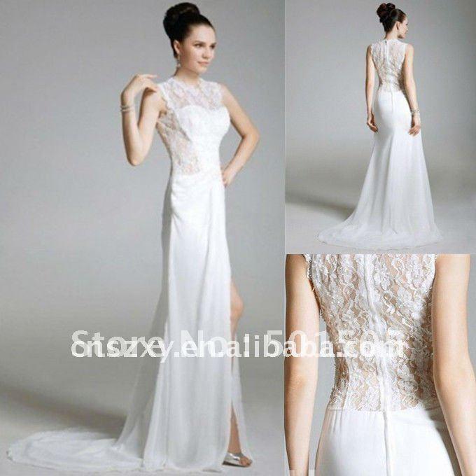 Similiar Sexy Wedding Dresses With Illusion Back Keywords