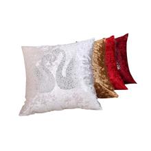 Rhinestone Swans Pattern Throw Pillow Home Decorative Cushion Pillow