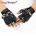 Long Keeper Semi finger Brand Designer Gloves Military Camo Tactical Gloves fingerless Mittens for Men Workout
