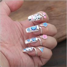 Оптовая S925 стерлингового серебра женщины ювелирные изделия ногтей кольцо ювелирных изделий способа серебра уникальный звезда шаблон любовный партия винтаж GR200(China (Mainland))