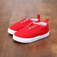 2016 Children Canvas Loafers Toddler Shoes Sports Shoes Girls Boys Sneakers Canvas for Kids Slip on New Garcon Enfant Chaussure