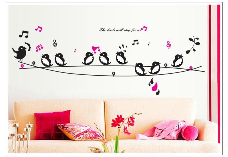 Artesanato Que Mais Se Vende ~ Sala de adesivo decoraç u00e3o da etiqueta na parede papel