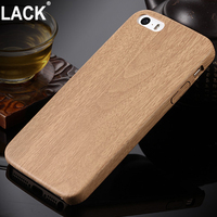 Wooden Pattern PU Leather Cover For Apple iPhone 5s SE Case Wood Grain Soft Back Shell For iphone5 Mobile Pouch Phone Bag