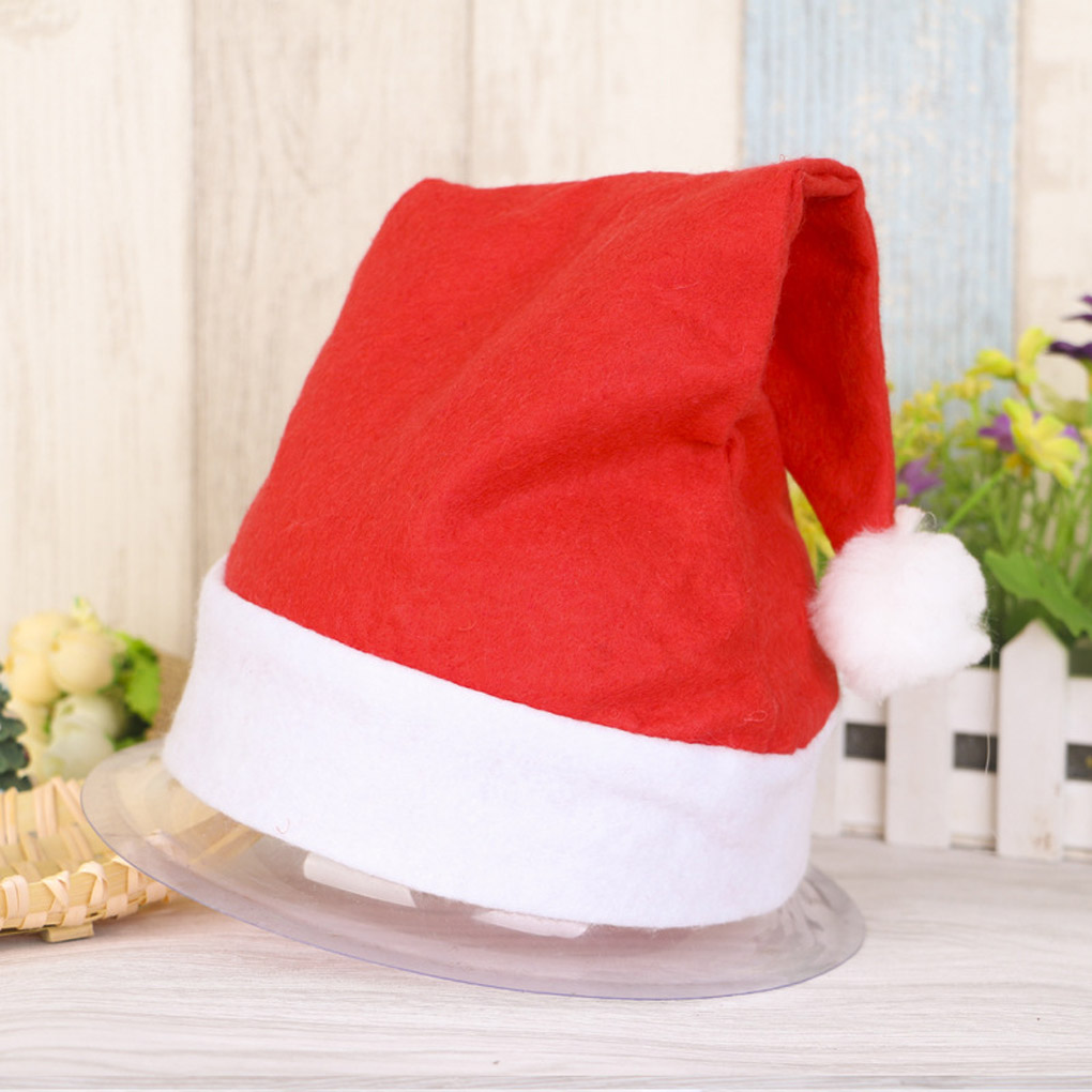 Wonderful Xmas Official Plush Santa Claus Hat Comfort Liner Christmas Halloween festival Costume(China (Mainland))