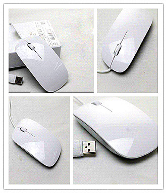 USB ultra-thin optical mouse wired mouse DELL SONY neutral apple mouse Wired Mouse(China (Mainland))