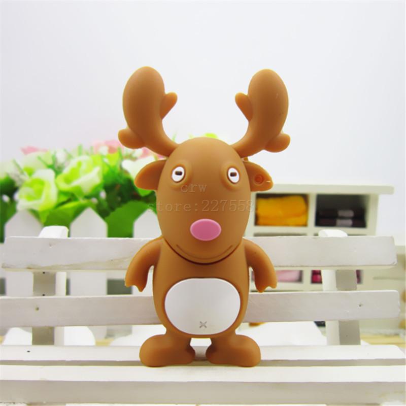 Pen drive Christmas deer Elk 8gb 16gb 32gb 64gb usb 2.0 flash drive memory card stick disk pendrive gift(China (Mainland))