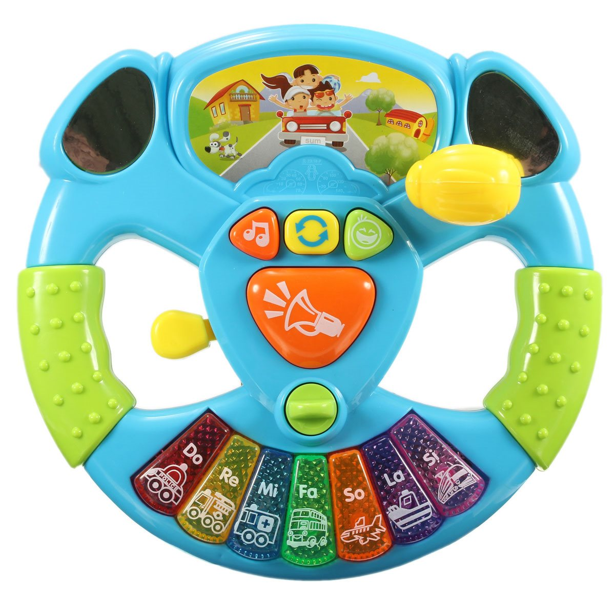 Music Lights Education Intelligence Toy Steering Wheel Transportation Tools Baby Electronic Multifunctional Button Color Scales(China (Mainland))