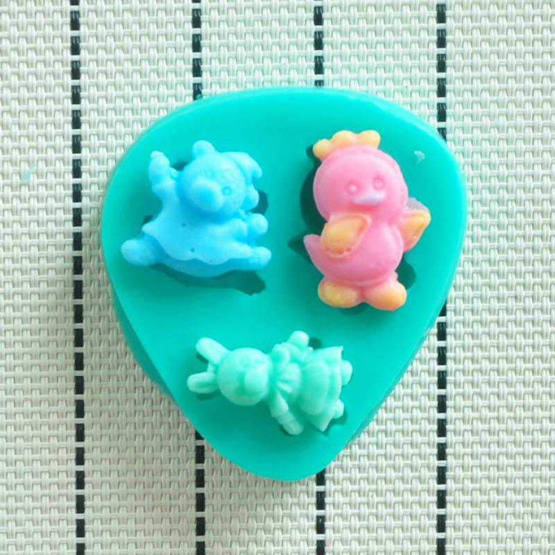 HOT bear rabbit bird silicone mold,Fondant Cake Decorating Tools,Silicone Soap Mold,Silicone Mold - Bestmart store