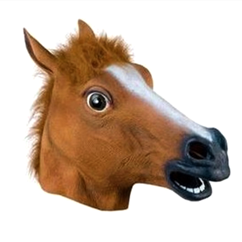 New Arrival Full Face Halloween Horse Mask COS Mask Horse Head Set Christamas Easter Part Masks tool(China (Mainland))