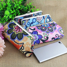 Women's Retro Floral Pattern Wallet Clutch Key Card Coin Cell Phone Holder Bag Purse 6AZV