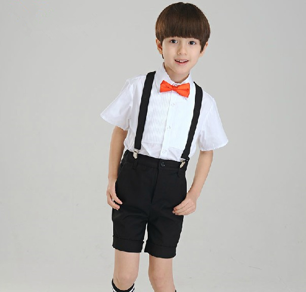 Free shipping 2 pieces kids tuxedo boy clothing tuxedos for Boys dress clothes wedding
