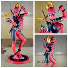 Anime Comics X-Men Lady Deadpool 1/7 Scale Vinyl Cosplay Bishoujo Statue Figure Action Figure Juguetes Model Hot Kids Toys