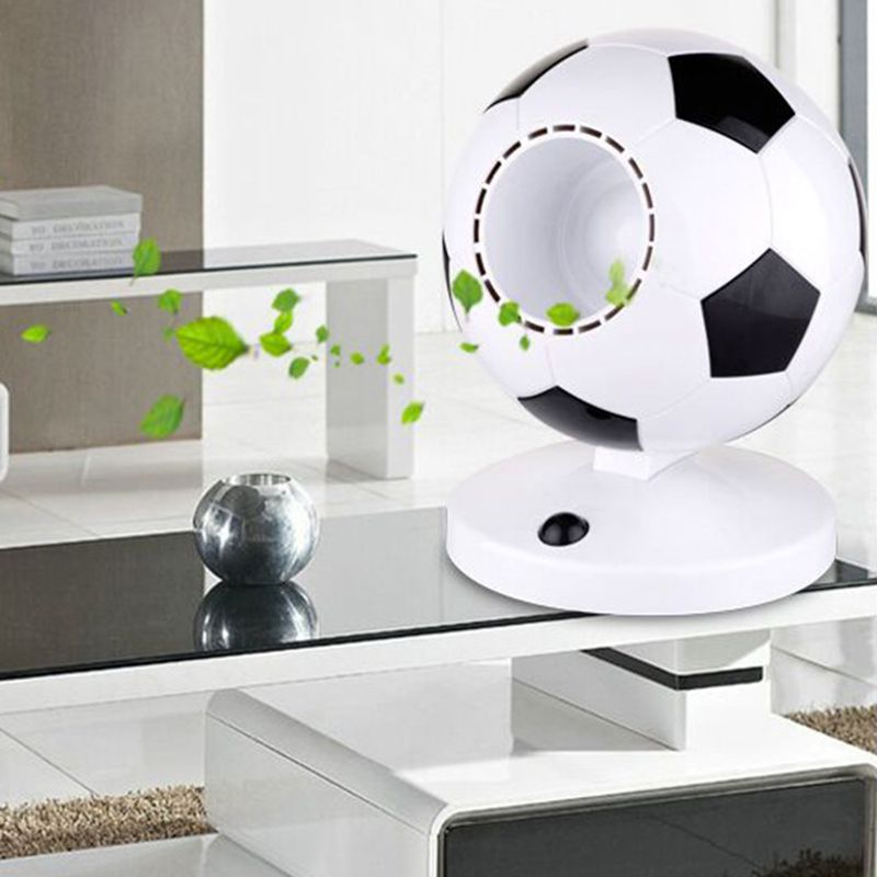 USB battery dual - use football without leaf fan Give a good gift(China (Mainland))