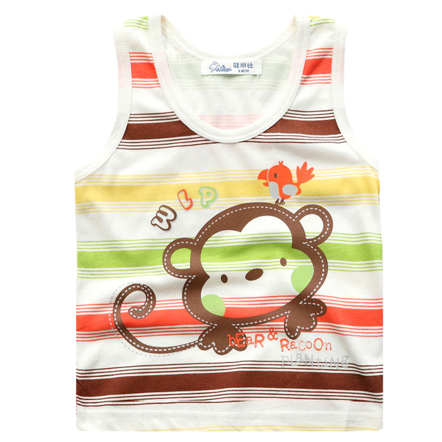 Summer baby bamboo fibre vest baby summer child casual basic sleeveless spaghetti strap clothes
