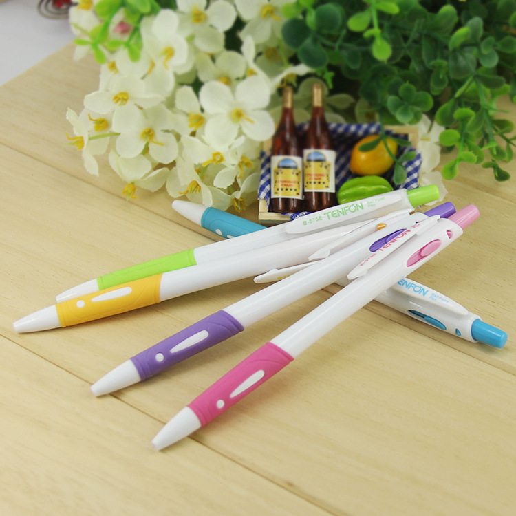 48pc/lot creative candy color ballpoint pens customized logo promotional gifts for kids office&school supplies accessories