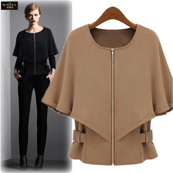 2015 New Brand Star Like Fashion Fit Waist O-Neck Raglan Sleeve Chaquetas Mujercasaco Feminino Women Jacket Outwear Thin Coat(China (Mainland))