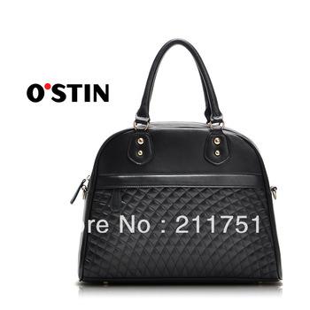 Free shipping 2013 Fashion office lady  women  handbag black plaid shoulder bag messenger  handbag bags totes k142