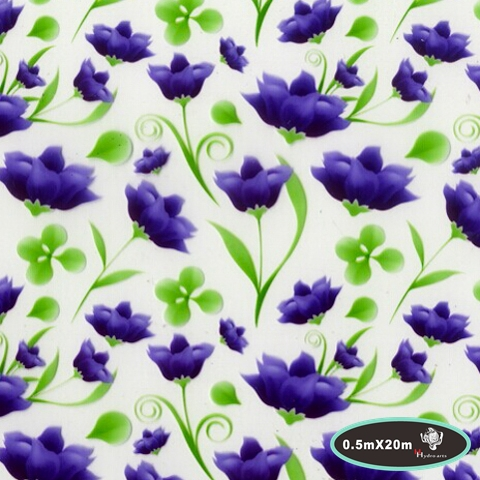 NO.HFYA-741-1,Width 50cm,10m/lot Purple floral hydrographic films water transfer printing Hydrographic Film for furniture hydro(China (Mainland))