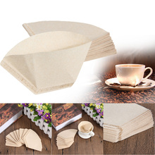 40pcs Hand-poured Coffee Paper Filter Hand Drip Paper Coffee Filter Folded Coffee Paper Filter for Kitchen Tools (China (Mainland))