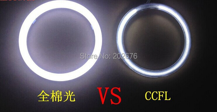FREE SHIPPING, CHA 2014 NEW LED FULL BRIGHT ANGEL EYE DEVIL DEMON EYE, 80MM, WITHOUT DARK SPACE, BRIGHTER THAN CCFL HALOS<br><br>Aliexpress