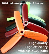 Wholesale 4040 bullnose propellers high-quality 4*4 inch 3 blades(CW/CCW) for DIY mini race drones QAV180/250/ZMR250 quadcopter