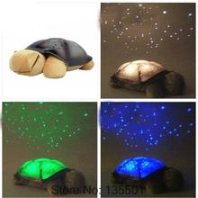 Electric Turtles plush toys Night Lights start for Children Music Lights Mini Projector 4 Colors 4 Songs(China (Mainland))