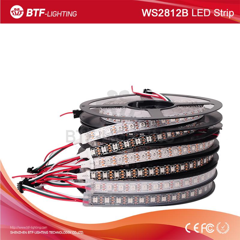 1m 74leds/m WS2812 Black/White PCB 2812 led strip 5050 smd, Waterproof IP30/IP65/IP67 Individually Addressable DC5V - Shenzhen BTF-Lighting Technology Co., Limited store