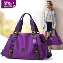 Bensjiaos women brand european vintage purple shoulder bag ladies casual waterproof nylon handbag classic black messenger bags(China (Mainland))
