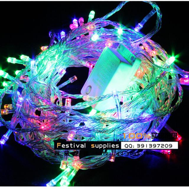 Led lights christmas lights festival lights flasher lamp set wedding lights decoration lamp cord lamp 100 meters multicolor