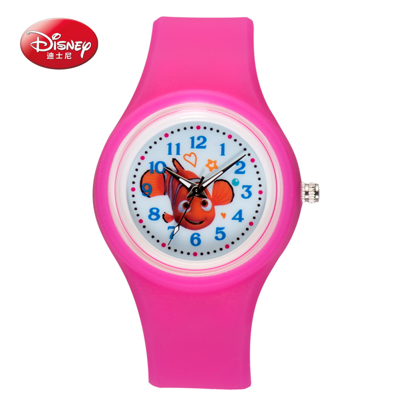 Disney Silicone seabed general mobilization Watch Analog Printed Rubber Band Vintage Fashion Women wristwatch(China (Mainland))