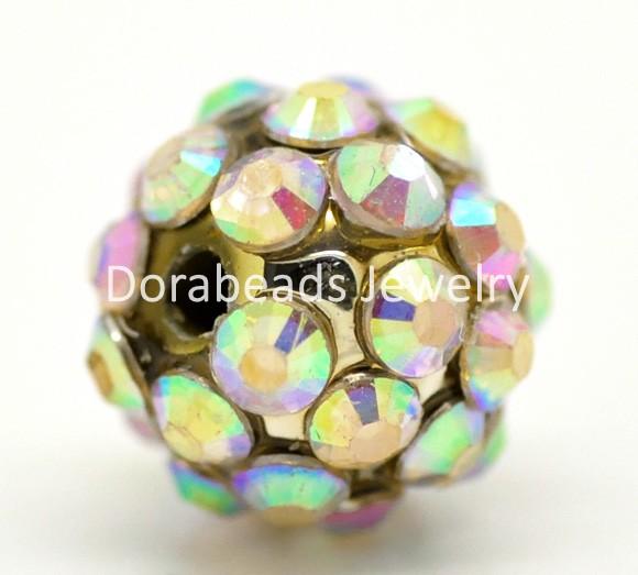 "AB Color Acrylic Rhinestone Resin Beads 12mm(1/2""), sold per packet of 20 (B17507)8seasons(China (Mainland))"