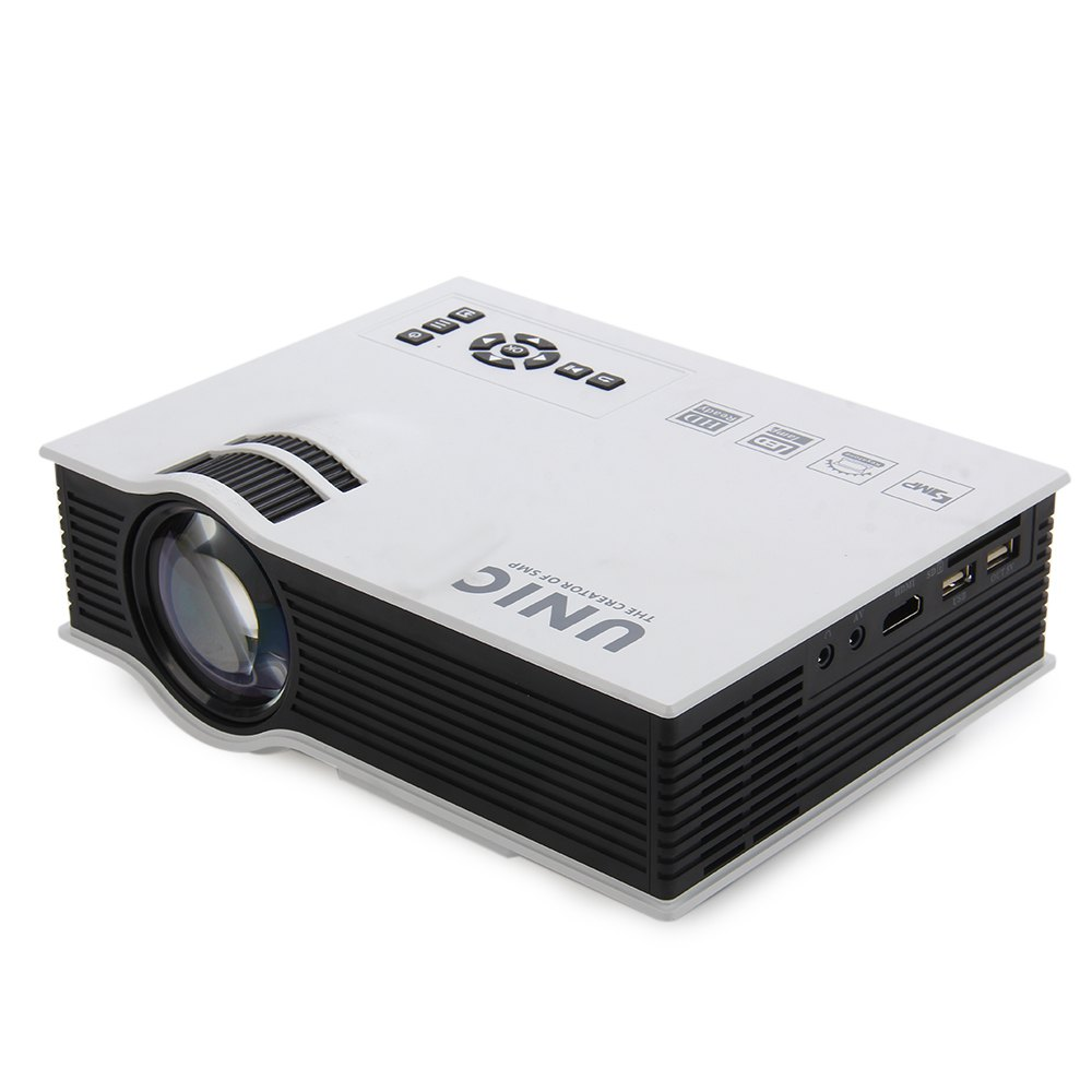 Original unic uc40 mini portable lcd projector hdmi home for Small hdmi projector